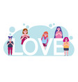 diversity women group and lettering cartoon vector image vector image