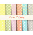 easter patterns vector image vector image
