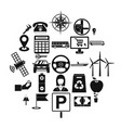 engineering icons set simple style vector image vector image