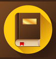 flat book icon flat book icon vector image vector image