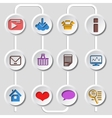Flat design set of web and mobile icons vector image vector image