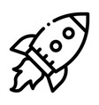 flying rocket spaceship agile element icon vector image