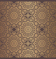 golden arabesque pattern vector image vector image
