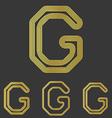 Golden line g logo design set vector image vector image