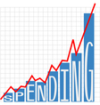 Government big spending chart vector image vector image