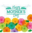 happy mothers day greeting flower transparent vector image vector image