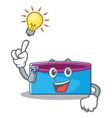 have an idea pencil case character cartoon vector image vector image