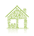 House concept for your design vector image vector image