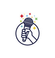 karaoke mic logo vector image
