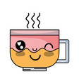 kawaii cute funny coffee cup vector image vector image