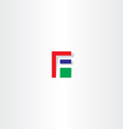 letter f red green blue icon vector image vector image