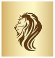lion head portrait icon vector image vector image