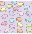 macaroon with lettering vector image