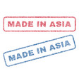 made in asia textile stamps vector image