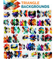 mega collection of triangle backgrounds vector image vector image