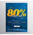 mega sale voucher banner template design with vector image vector image