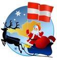 Merry Christmas Austria vector image vector image