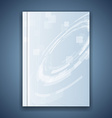 Metal blue folder template hi-tech element vector image vector image