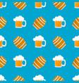 mug beer with foam wooden barrel for wine vector image vector image