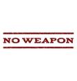 No Weapon Watermark Stamp vector image vector image