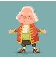 Noble medieval aristocrat mascot cartoon design vector image vector image