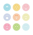 Pastel lingerie icons Panties and bras different vector image