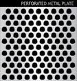 perforated metal plate vector image vector image