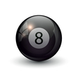 pool billiards eight ball vector image vector image