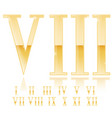 roman numeral eight golden 3d sign vector image vector image