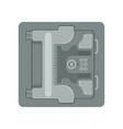 safe metal armored box with a mechanical vector image vector image