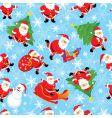 Santa seamless vector image vector image