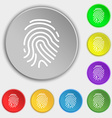 Scanned finger Icon sign Symbol on eight flat vector image