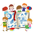 Science book and children vector image