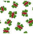 Seamless Pattern of Redcurrant vector image vector image