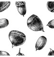 seamless pattern with hand drawn chestnuts and vector image vector image