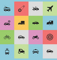 set of 16 editable transportation icons includes vector image vector image