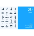 Set of BLUE HAMSTER Library Dubai icons vector image vector image