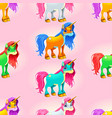 set of cute unicorns vector image
