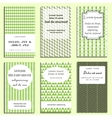 set of greeting cards design vector image vector image