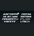 set of steel letters font for dynamic vector image vector image