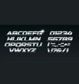 set steel letters font for dynamic vector image vector image