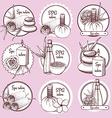 Sketch spa logos vector image vector image