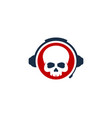 skull podcast logo icon design vector image