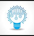 Small light-bulbs in a big bulb vector image