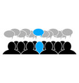 team leader icon social business group flat vector image