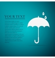 Umbrella flat icon on blue background vector image vector image