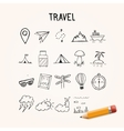 Universal Set of Doodle Icons travel vector image