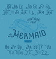 vintage label font named mermaid vector image vector image