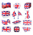 waving uk flag england british patriotic national vector image