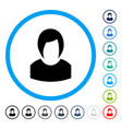 woman profile rounded icon vector image vector image